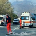 Villar Perosa: incidente alla rotonda del cuscinetto, un ferito ma disagi alla circolazione
